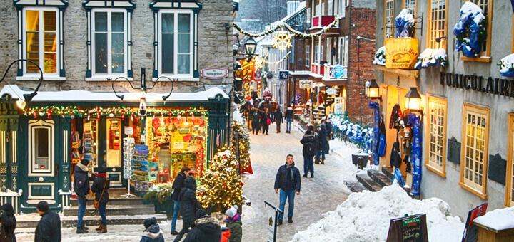 Celebra las fiestas decembrinas en Québec